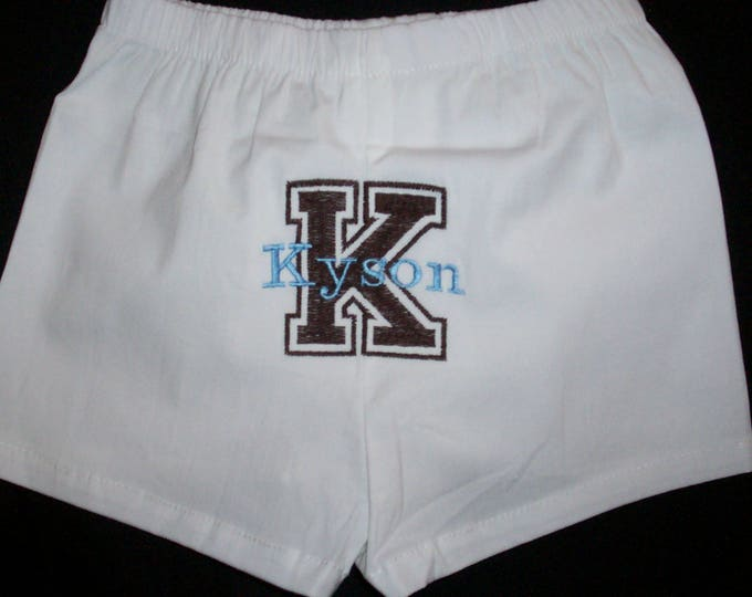 Embroider baby boy boxers -  Diaper cover boy gift - Infant shower gift - Personalized baby boy boxers - Baby boy shower gift - boxers