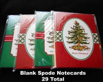 Spode Christmas Tree Christmas Notecards Christmas Cards Lot Blank Inside 29 Total