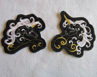 Embroidered Fantasy Unicorn Iron On Patches, Unicorn Patches, Iron On Patch, Fantasy Unicorns, Unicorn