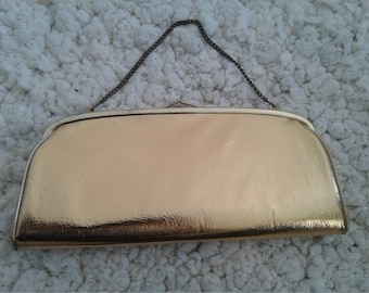 60s HARRY LEVINE/HL—Golden Pleather Evening Bag