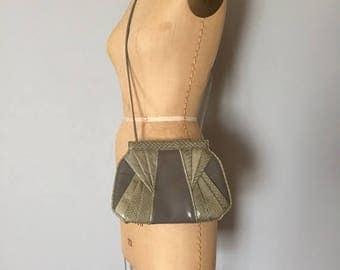 25% OFF SALE... Giani Bernini cloudy grey leather purse | snake skin bag
