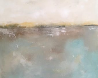 Abstract seascape original painting -Soft Sea 20 x 20