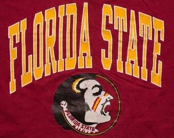 Florida State Seminoles T-shirt, FSU University, Vintage 80s-90s, Noles College Logo, BIG XXL/2XL/2X