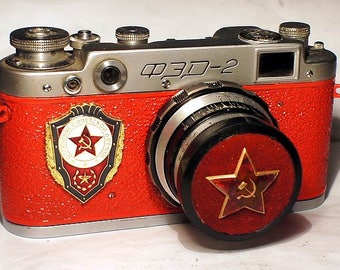 1958! Made in USSR FED-2 camera Russian Leica with -=Foremost people of Soviet Army=-