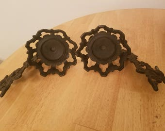 Vintage Pair of Oil Lamp Holder