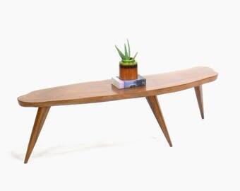 Nakashima Inspired Live Edge Coffee Table