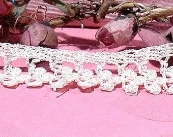 Vintage Lace Hand Crochet Flower Trim