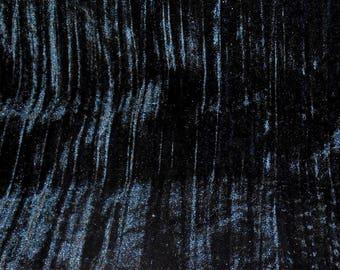 Vintage Fabric Black Stripe Velvet Remnant