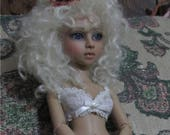 Jewel light tan bjd doll nude doll with glass eyes
