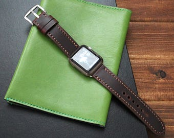 Apple Watch Leather Strap in RED BROWN, Apple Watch band 38mm, 42mm, iWatch band, Leather Watch band, iWatch Strap