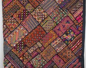 Large Patchwork Banjara Wall Hanging. Bohemian Embroidered Throw. Ethnic