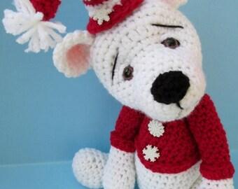 Summer Sale Crochet Pattern Polar Bear by Teri Crews instant download PDF format