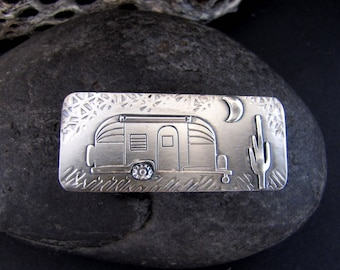Vintage Airstream Sterling Silver Money Clip