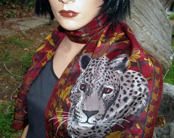 15 % off INCREDIBLE Signed Adrienne Vittadini Rocco Leopard Silk Scarf Oblong In MINT CONDITION