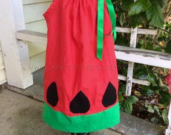 Watermelon dress, watermelon theme, melon dress, summer dress, birthday dress, girls dress, toddler dress, infant dress, photo prop