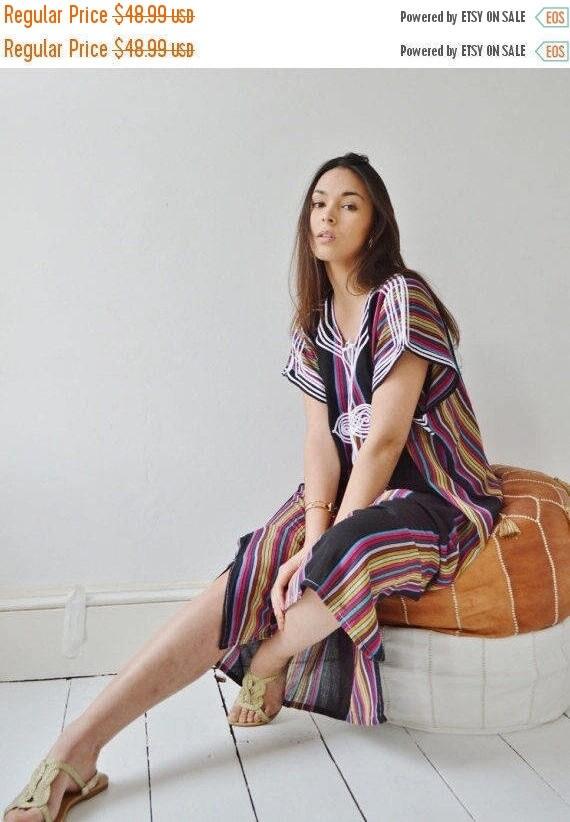 SUMMER 10% OFF // Black Bedouin Resort Moroccan Caftan Kaftan-Beach kaftan, maternity wear,loungewear, as beachwear,cover ups,resortw