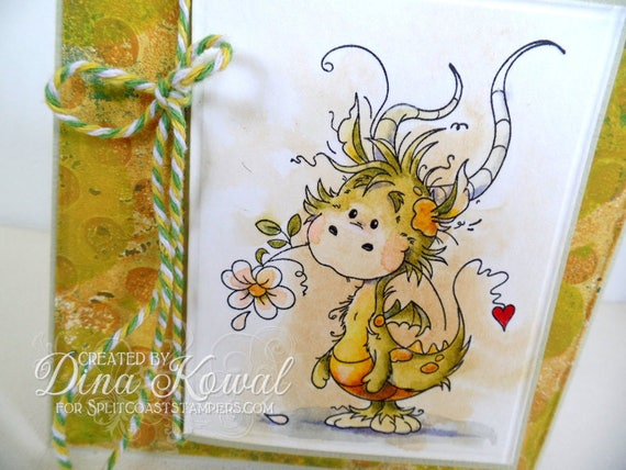 handmade greeting cards - MAGICAL DRAGON FRIEND