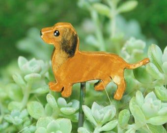 Dachshund Miniature plant stake Pot decoration