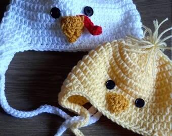 Crochet Chicken hat