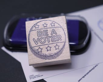 Be A Voter! Rubber stamps for your postcards and scrapbooking, perfect for writing to your reps or get out the vote