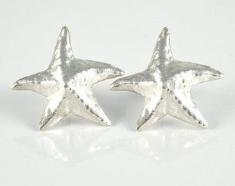 Starfish Earrings, Silver Starfish Post Earrings Gift For Women, Gift for Teens Sea Star Earrings, Sterling Silver Studs, Star Fish Earrings