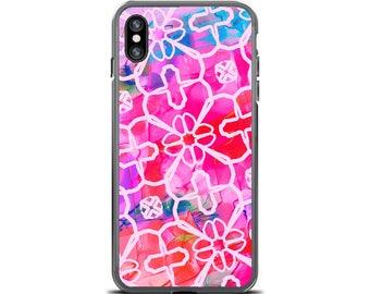Bohemian iPhone X Case Batik Art Watercolor Ikat Phone Case Boho Phone Case iPhone 7 Plus Case iPhone 8 iPhone 6