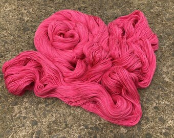 Leah. Silk / Cotton Lace Yarn.  Wild Solstice Roses