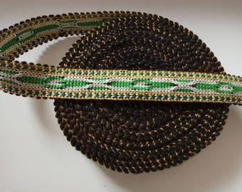 Uzbek color woven trim Jiyak. Ethnic Boho, Hippy trim. NTR044