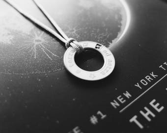 White Meteorite Dust Necklace- Men's/Women's Astronomy Necklace - Space Jewelry