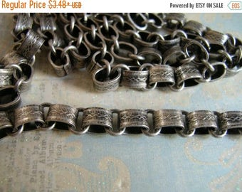 ON SALE Repurpose Vintage Reproduction Book Chain Antique Silver plated Top Quality Design book chain