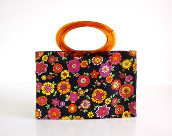 Vintage Lady's Pride Purse / Tote / Shopping Bag / Expandable handbag