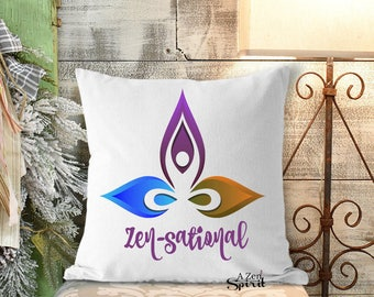 Zen pillow, Zen, Zensational,Throw Pillow, Textile Arts, Meditate