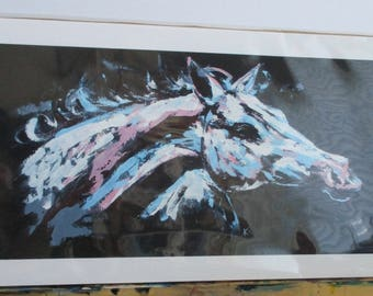 "8""x16"" Abstract Horse Giclee Print"