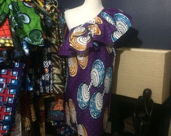 Bella Duafe One Shoulder Flounce Dress
