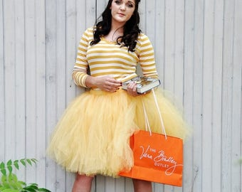 Summer sale Adult Tutu  - Princess Tutu -Yellow costume - Woman tutu -  Ladies Tutu  SEWN tutu Teen Tutu  tutu skirt - tulle skirt - Hallowe