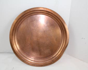 Vintage Mid Century Modern Copper Serving Tray SOLD AS IS