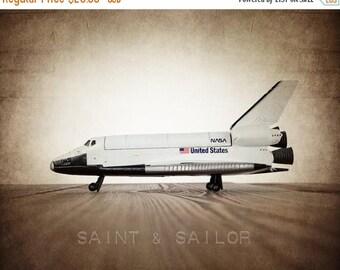 WEEKEND SALE Vintage Space Shuttle One Photo Print, Boys Room decor, Vintage Space Art, Space Theme Prints,