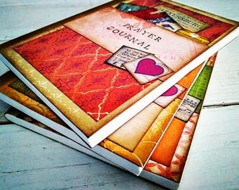 Prayer Slim Journal Art Journal Keepsake Unlined Pages