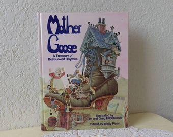 MOTHER GOOSE, A Treasury of Best-Loved Rhymes, Illustrated by Tim and Greg Hildebrandt, 1988