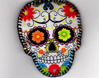 Halloween, Quilted Skull Pin (HQSP02c)