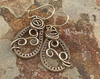 Brass Woven Earrings