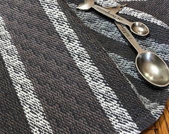 Tea Towel Handwoven, Kitchen Dish Towel, Woven Hand Towel, Gourmet Kitchen, Chef Towel, Loom Woven Guest Towel, Loom Woven, Gray Skies #6