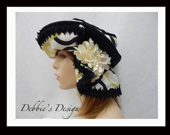 Women's Handmade Cloche Hat-563, Women's Cloche Hat, Women's Hats, Women's handmade cloche hat, Chemo Hat