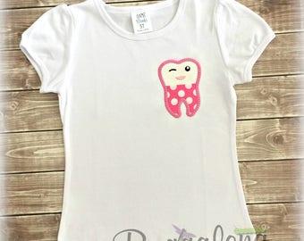 Tooth Pocket Applique Embroidery Design
