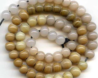 Shades of Beige and Brown 6mm Beads