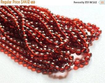 ON SALE 55% Garnet Beads, Garnet Faceted Rondelle Beads, Red Garnet Beads, 5-5.5mm Beads, AAA Garnet Beads, 4 Inch Strand, 20 Pieces