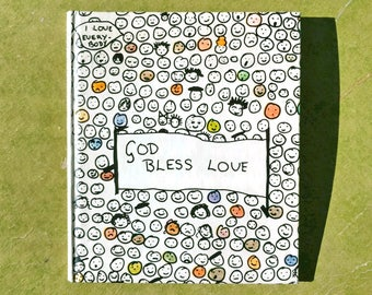 Vintage Book God Bless Love A Collection of Children's Sayings Compiled by Nanette Newman Colorful Endpapers 1973 Funny Poignant Precocious