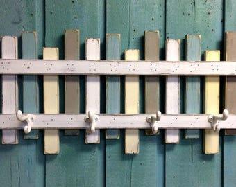 Beach Fence Hook Rack Coat Rack Coastal Living by CastawaysHall