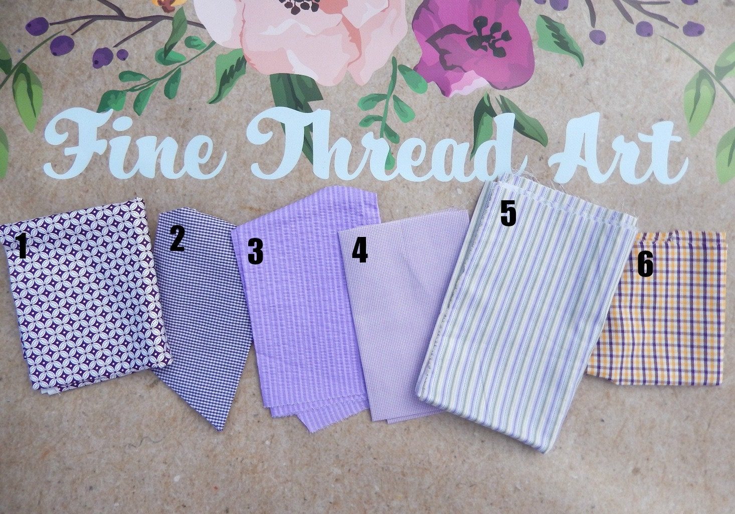 Purple and Lavender Applique Fabrics