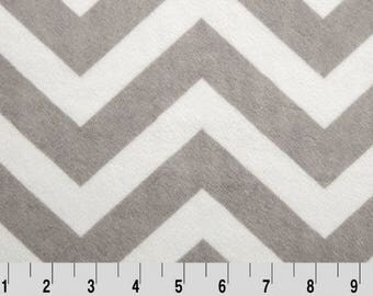 Gray Chevron Minky Pieces,Gray Chevron Minky Destash, Silver And Snow Minky Scraps, By The Pound, Shannon Fabrics, DIY Minky Quilt Blocks